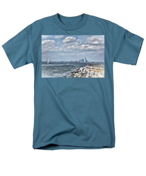 Men's T-Shirt  (Regular Fit) featuring the digital art Watercolor Views by Terry Cork