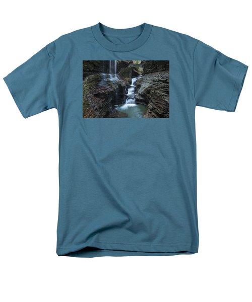 Watkins Glen Rainbow Falls Men's T-Shirt  (Regular Fit) by Stephen Stookey