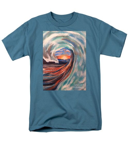 Men's T-Shirt  (Regular Fit) featuring the painting Wave by Denise Tomasura