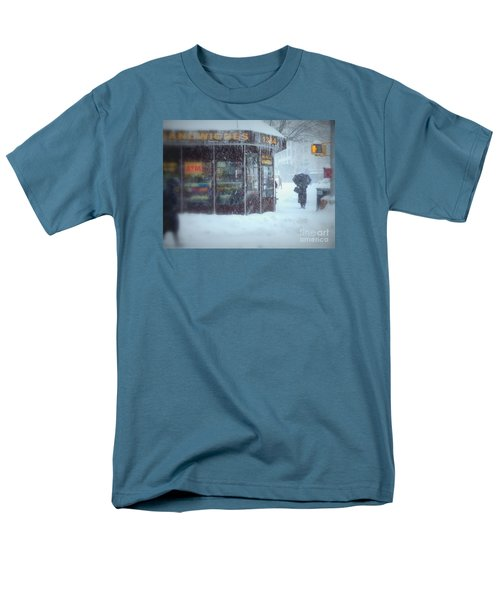 We Sell Flowers - Winter In New York Men's T-Shirt  (Regular Fit) by Miriam Danar