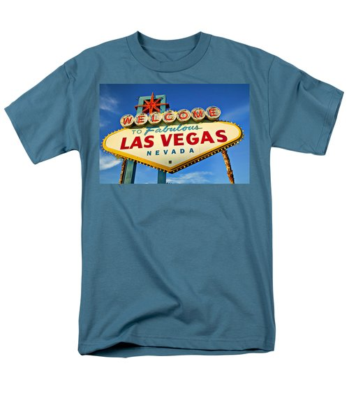 Welcome To Las Vegas Sign Men's T-Shirt  (Regular Fit) by Garry Gay
