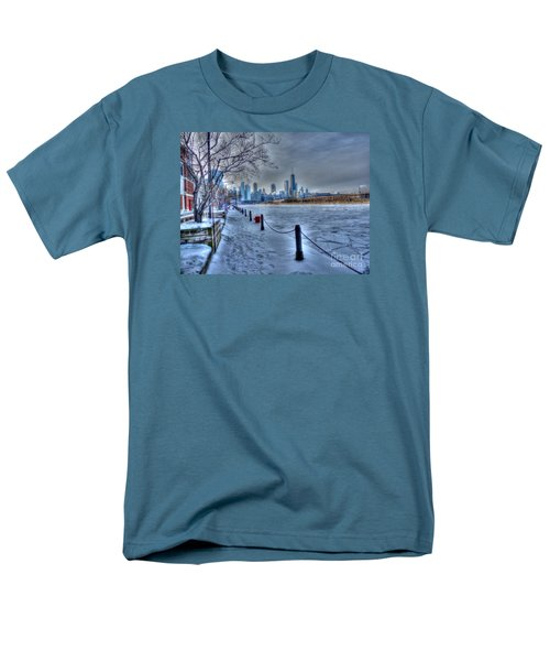 West From Navy Pier Men's T-Shirt  (Regular Fit) by David Bearden