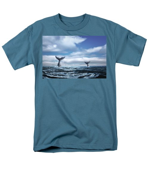 Men's T-Shirt  (Regular Fit) featuring the photograph Whale Of A Tail by Tom Mc Nemar