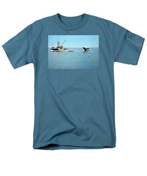 Whale Watching Moss Landing Series 26 Men's T-Shirt  (Regular Fit) by Antonia Citrino