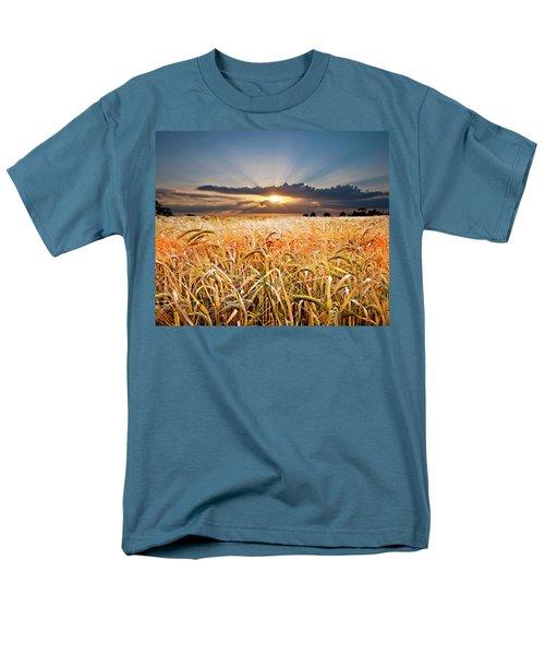Wheat At Sunset Men's T-Shirt  (Regular Fit) by Meirion Matthias