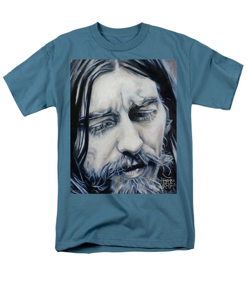 While My Guitar Men's T-Shirt  (Regular Fit) by Rebecca Glaze