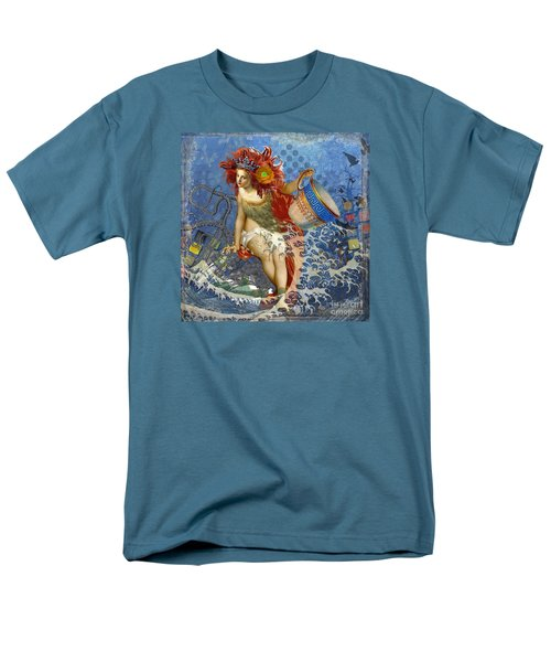 Mermaid Aquarius Vintage Whimsical Gothic Funny Men's T-Shirt  (Regular Fit) by Mary Hubley