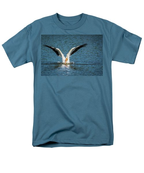 White American Pelican Men's T-Shirt  (Regular Fit) by Pamela Williams