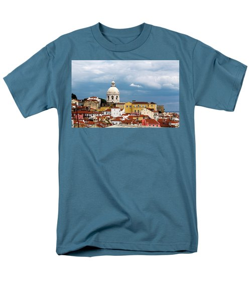 Men's T-Shirt  (Regular Fit) featuring the photograph White Dome Against Blue Sky by Lorraine Devon Wilke