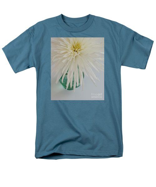 White Flower In A Vase By Jasna Gopic Men's T-Shirt  (Regular Fit) by Jasna Gopic