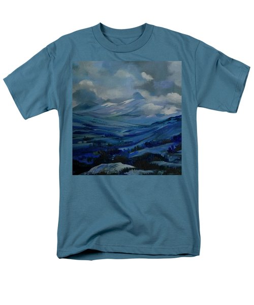 Men's T-Shirt  (Regular Fit) featuring the painting White Pass by Anna  Duyunova