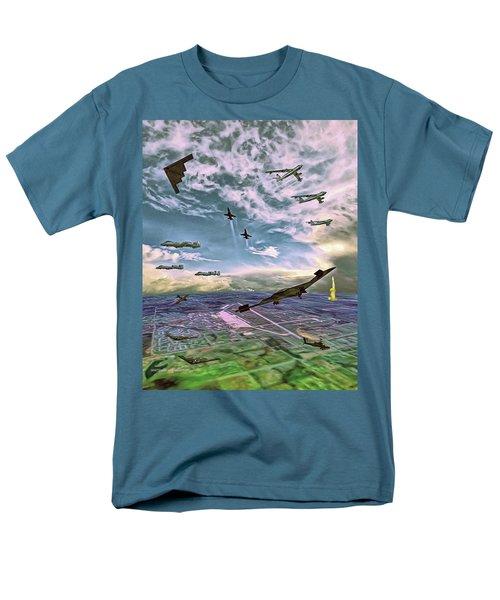 Whiteman Air Force Base Men's T-Shirt  (Regular Fit) by Dave Luebbert