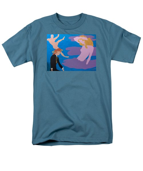 Men's T-Shirt  (Regular Fit) featuring the painting Therapist by Erika Chamberlin