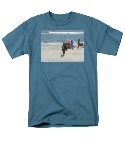 Men's T-Shirt  (Regular Fit) featuring the photograph Wild Horses by Helen Haw