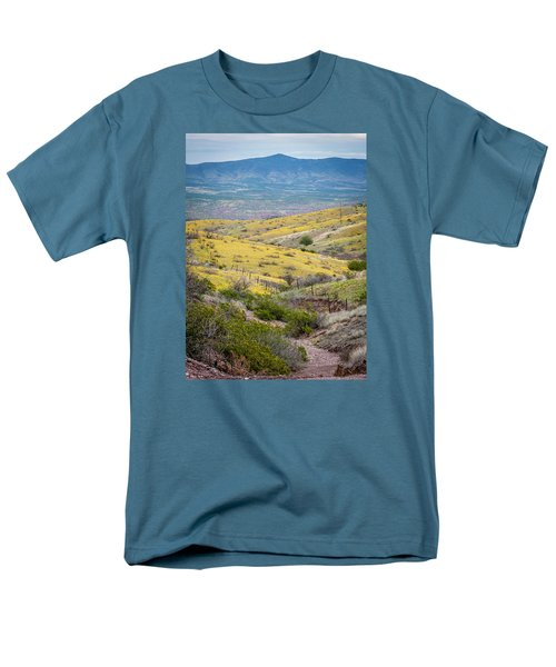 Wildflower Meadows Men's T-Shirt  (Regular Fit) by Karen Stephenson