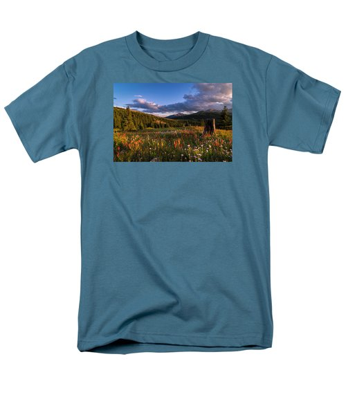 Wildflowers In The Evening Sun Men's T-Shirt  (Regular Fit) by Michael J Bauer