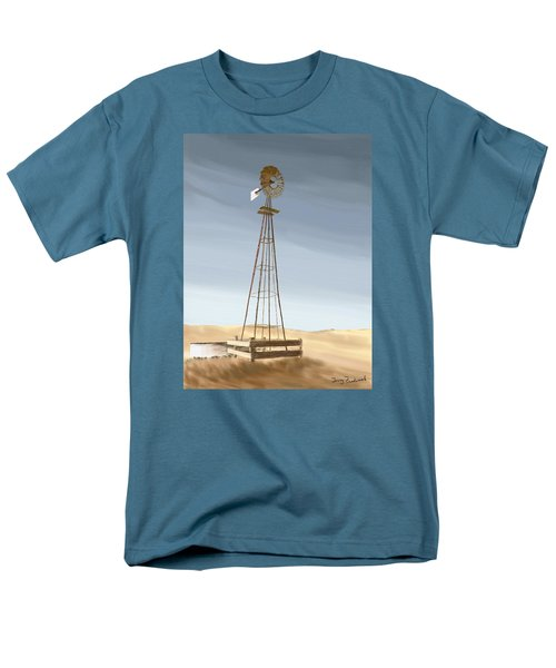 Men's T-Shirt  (Regular Fit) featuring the painting Windmill by Terry Frederick