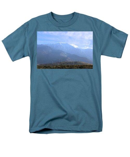 Windmills At San Jacinto Mt Men's T-Shirt  (Regular Fit) by Viktor Savchenko