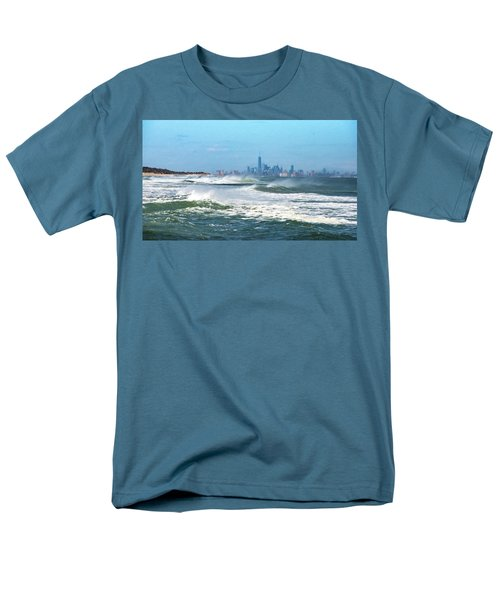 Windy View Of Nyc From Sandy Hook Nj Men's T-Shirt  (Regular Fit)
