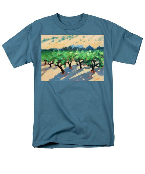 Men's T-Shirt  (Regular Fit) featuring the painting Wine Habitat by Gary Coleman