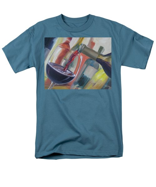 Men's T-Shirt  (Regular Fit) featuring the painting Wine Pour by Donna Tuten