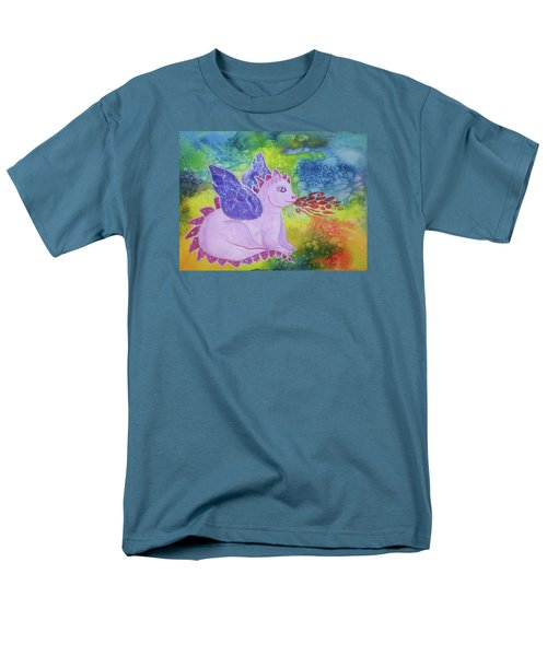 Men's T-Shirt  (Regular Fit) featuring the painting Winged Dragon by Ellen Levinson