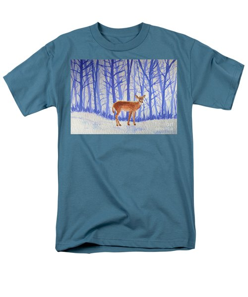 Winter Begins Men's T-Shirt  (Regular Fit) by Li Newton