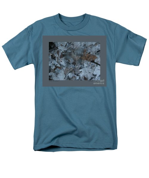 Winter Leaf Abstract-v Men's T-Shirt  (Regular Fit) by Patricia Overmoyer