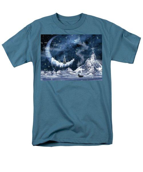 Winter Moon Men's T-Shirt  (Regular Fit) by Mihaela Pater