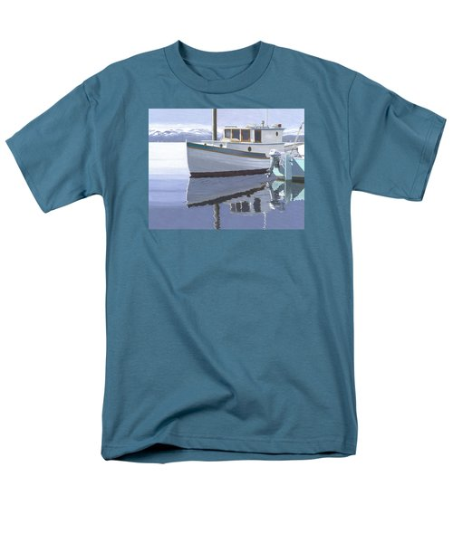 Winter Moorage Men's T-Shirt  (Regular Fit) by Gary Giacomelli