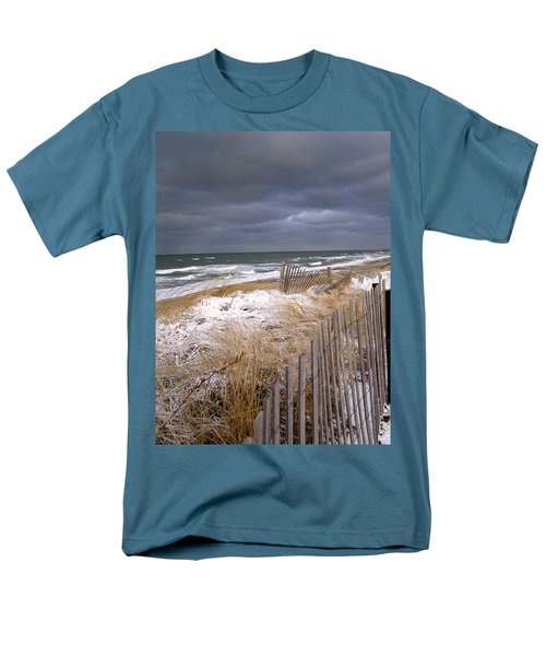 Winter On Cape Cod Men's T-Shirt  (Regular Fit) by Charles Harden
