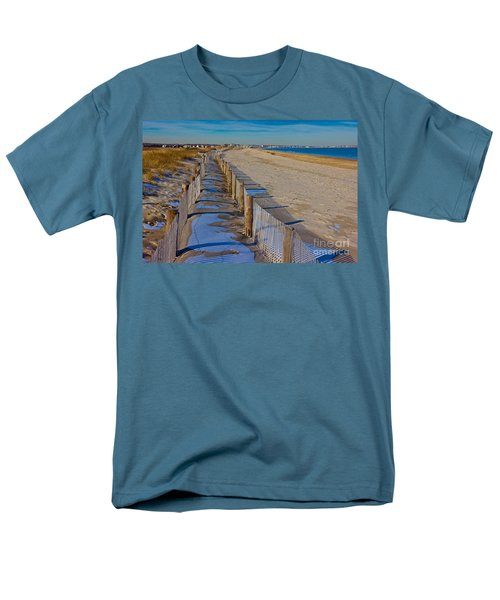 Winter On Duxbury Beach Men's T-Shirt  (Regular Fit) by Amazing Jules