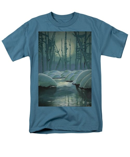 Men's T-Shirt  (Regular Fit) featuring the painting Winter Quiet by Jacqueline Athmann