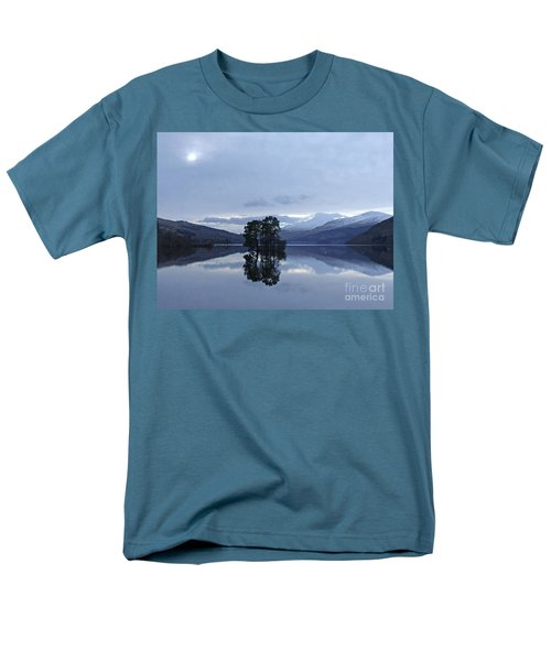 Men's T-Shirt  (Regular Fit) featuring the photograph Winter Reflections - Loch Tay by Phil Banks