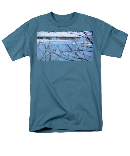 Men's T-Shirt  (Regular Fit) featuring the photograph Winter River by Kathy Bassett