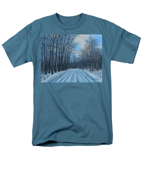 Winter Road To The Gas Well Men's T-Shirt  (Regular Fit) by Kathleen McDermott