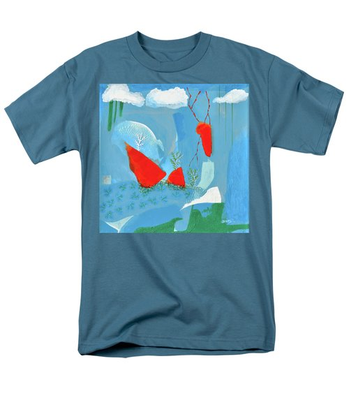 Winter Thunder Men's T-Shirt  (Regular Fit) by Donna Blackhall