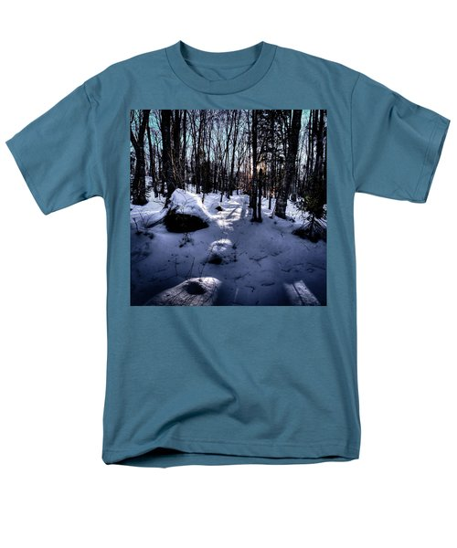 Men's T-Shirt  (Regular Fit) featuring the photograph Winters Shadows by David Patterson