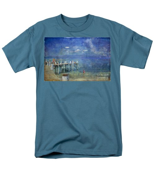 Men's T-Shirt  (Regular Fit) featuring the photograph Wish You Were Here Chambers Landing Lake Tahoe Ca by David Zanzinger