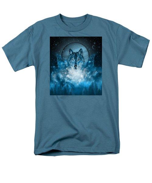 Wolf In Blue Men's T-Shirt  (Regular Fit) by Bekim Art