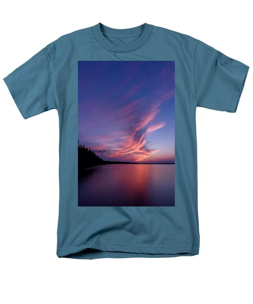 Men's T-Shirt  (Regular Fit) featuring the photograph Wonderful Skeleton Lake Sunset by Darcy Michaelchuk