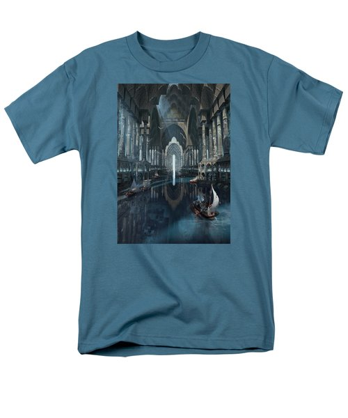 Men's T-Shirt  (Regular Fit) featuring the digital art Wonders The Canal Of Isfahan by Te Hu