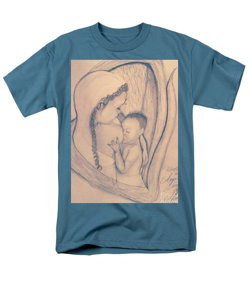 Wrapped Within The Angel Wings Of Momma Men's T-Shirt  (Regular Fit) by Talisa Hartley