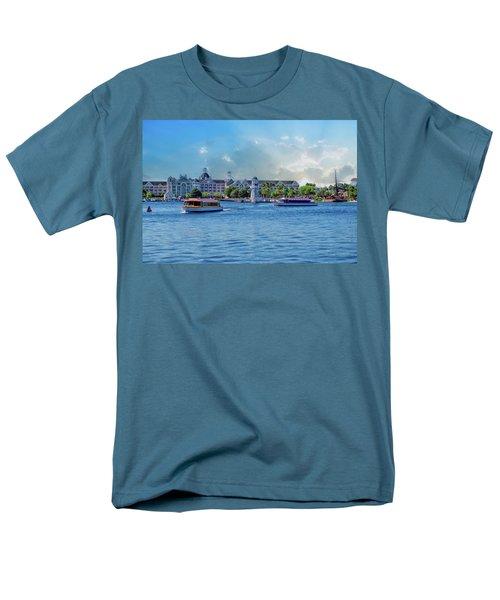Yacht And Beach Club Walt Disney World Men's T-Shirt  (Regular Fit) by Thomas Woolworth