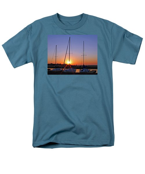 Men's T-Shirt  (Regular Fit) featuring the photograph Yacht Club Sunrise by Judy Vincent