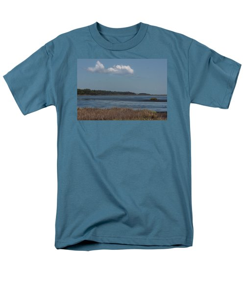 Men's T-Shirt  (Regular Fit) featuring the photograph Yawkey Wildlife Reguge - View From The Causeway by Suzanne Gaff