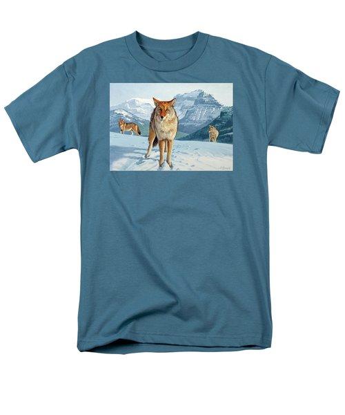 Yellowstone Coyotes Men's T-Shirt  (Regular Fit) by Paul Krapf