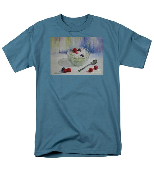 Men's T-Shirt  (Regular Fit) featuring the painting Yoghurt Time by Elena Oleniuc