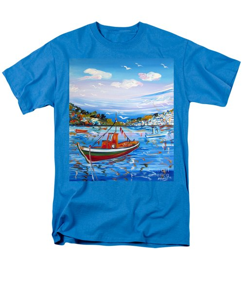 Little Fisherman Boat  Men's T-Shirt  (Regular Fit)