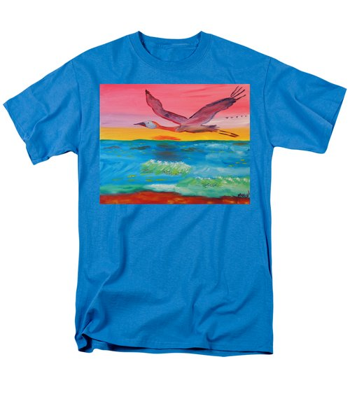 Men's T-Shirt  (Regular Fit) featuring the painting Flying Free by Meryl Goudey